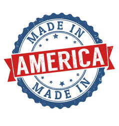 Made in america grunge rubber stamp vector