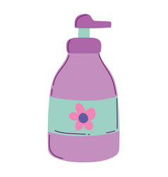 makeup cosmetic dispenser cream bottle isolated vector image