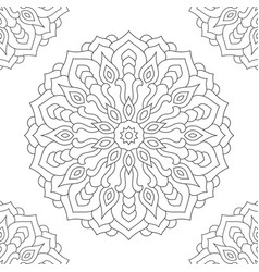 Mandala coloring page for adults vector