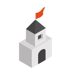 Medieval tower isometric 3d icon vector