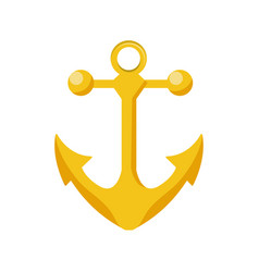 Metal anchor equipment nautical security vector
