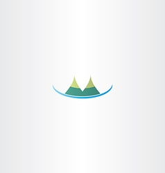 mountain hills icon vector image