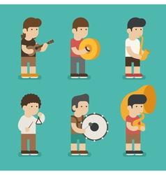 Musician character eps10 format vector