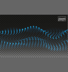 neon waves flowing motion abstract linear 3d vector image