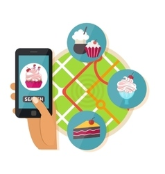 Online food search vector image