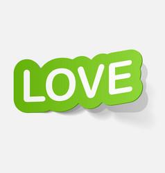 Paper sticker big love vector