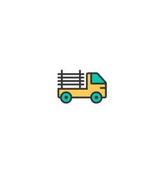 pickup truck icon design transportation icon vector image