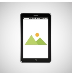 picture mobile phone navigation vector image