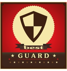 Protection shield sign concept style design vector