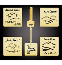 Real Estate badges vector image