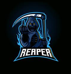 reaper gaming logo vector image
