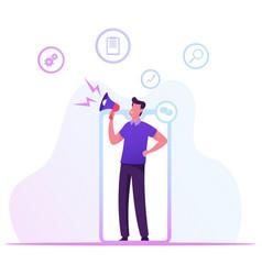 Referral program blogging or social media vector