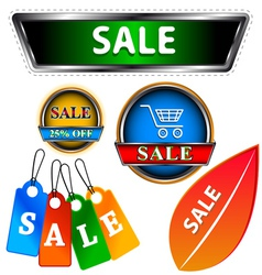 Sale logo set vector image