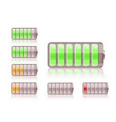 shiny battery icon vector image