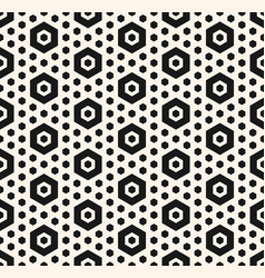 Simple geometric seamless pattern with hexagons vector