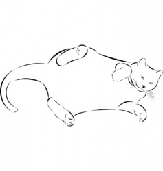 sketch fat lazy cat vector image