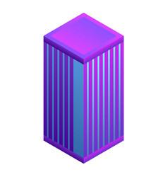 skyscraper icon isometric style vector image