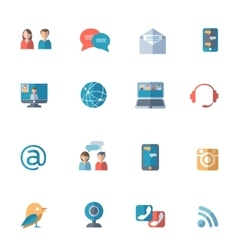 Social networks icons set vector image