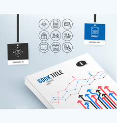 Ssd search book and special offer icons sms vector