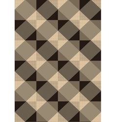 Striped brown rhombuses on light seamless backgrou vector