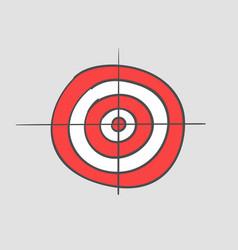 Target doodle cartoon hand drawn simple icon vector