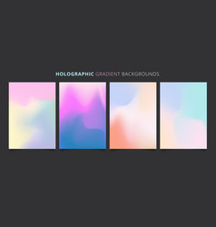 Template holographic gradients colorful background vector