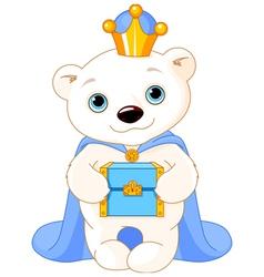 The Polar Bear as a Biblical Magi vector image
