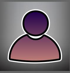 User sign violet gradient vector
