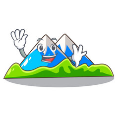 Waving miniature mountain in the character form vector