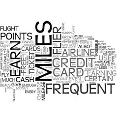 When to use frequent flyer miles text word cloud vector