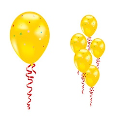 yellow party balloon vector image