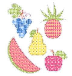 application fruits set vector image