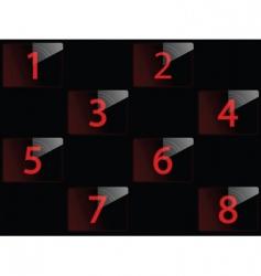 film countdown vector image