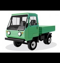 green truck vector image vector image