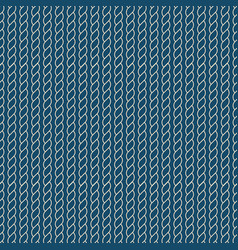navy rope pattern vector image