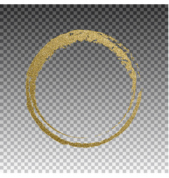 round grunge golden frame on checkered background vector image vector image
