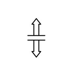 vertical split icon vector image vector image