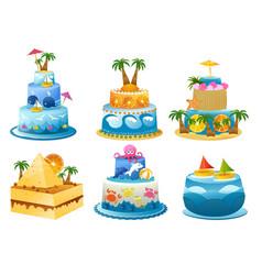 holiday birthday cake vector image vector image