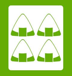 sushi icon green vector image
