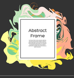 flyer design template abstract frame with vector image