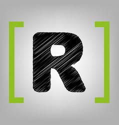 letter r sign design template element vector image