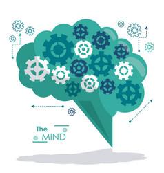 mind gears wheel cog think work vector image