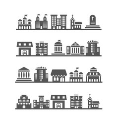 modern urban city landscapes on white background vector image