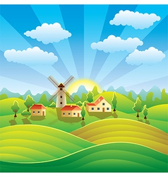 rural scenery vector image
