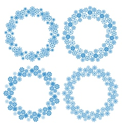 snowflakes circle frames for Christmas holiday - vector image vector image