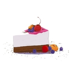 sweet piece of cake vector image vector image