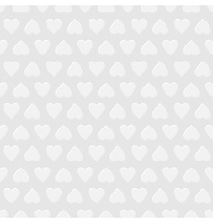 White seamless background with hearts vector image