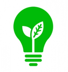 ecology bulb icon vector image vector image