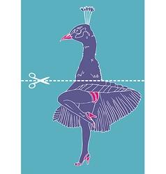 Marilyn Monroe legs with peacock head vector image vector image