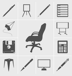 Office icons vector